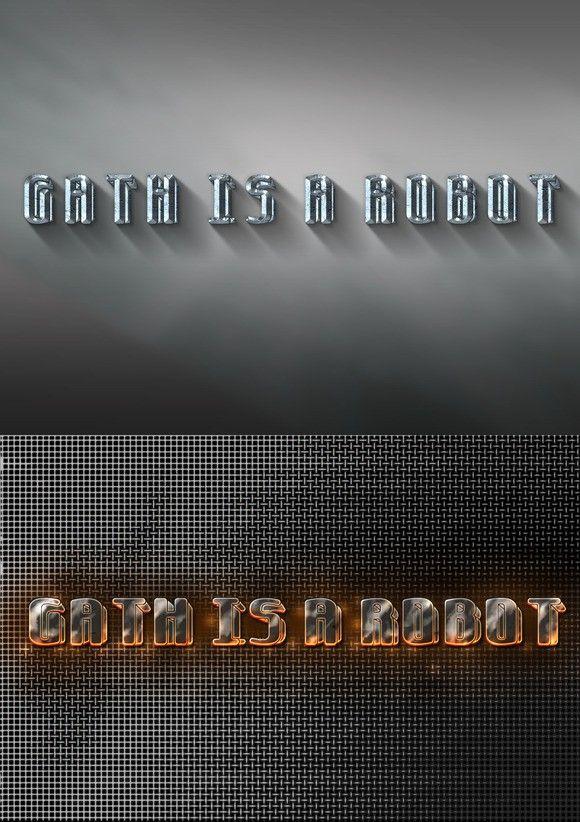 Gath is a Robot 3D font. Fonts. $10.00