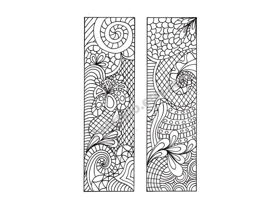110 best Mandala bookmarks images on Pinterest Coloring books - blank bookmark template