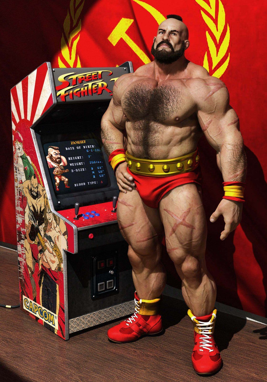 Zangief Render Georgi Georgiev On Artstation At Http Www