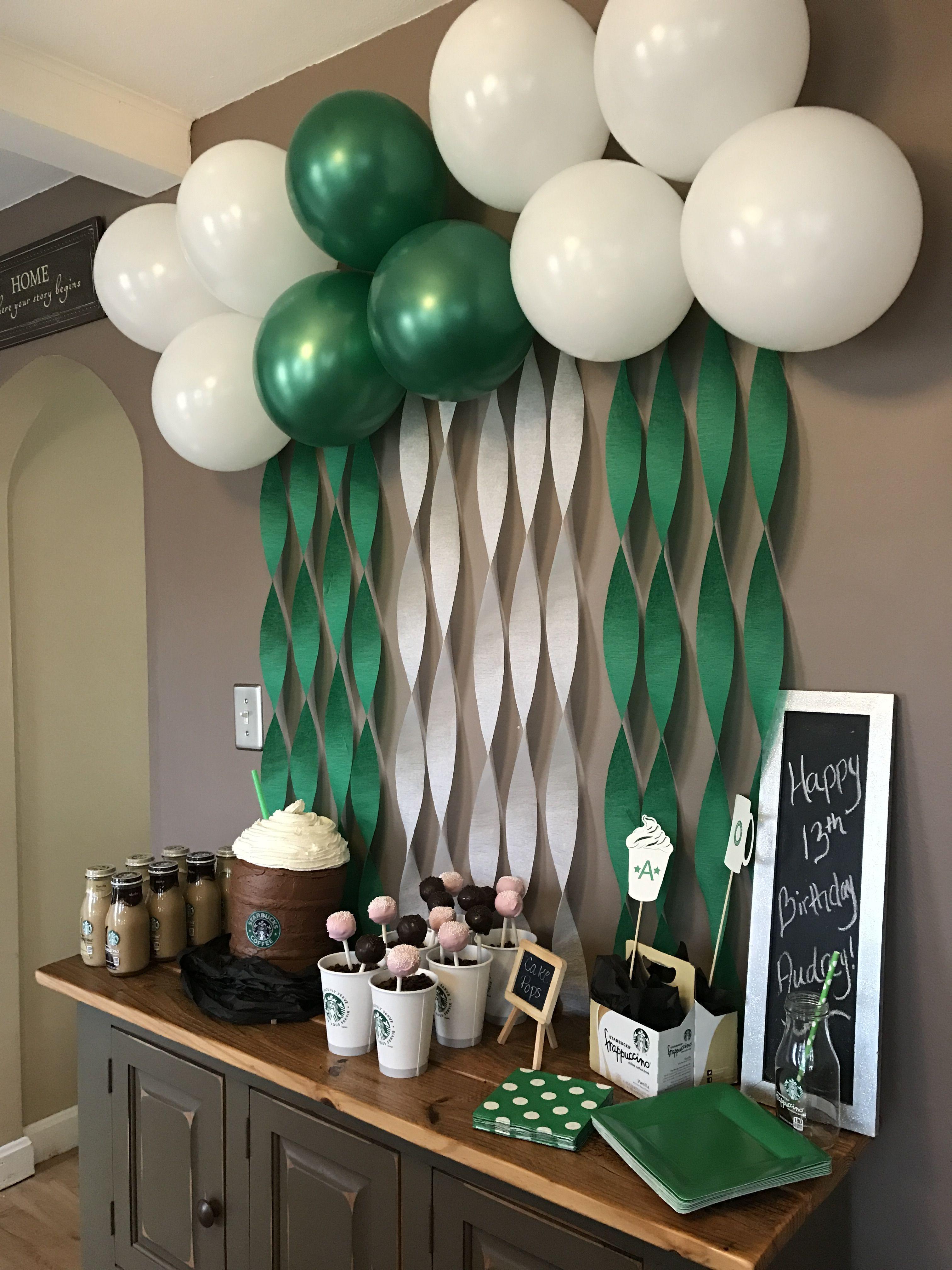 Audrey S 13th Birthday Starbucks Party Audrey S Birthday