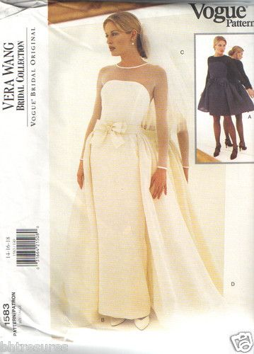 Vogue Sewing Pattern 1583 Vera Design Bridal 1995