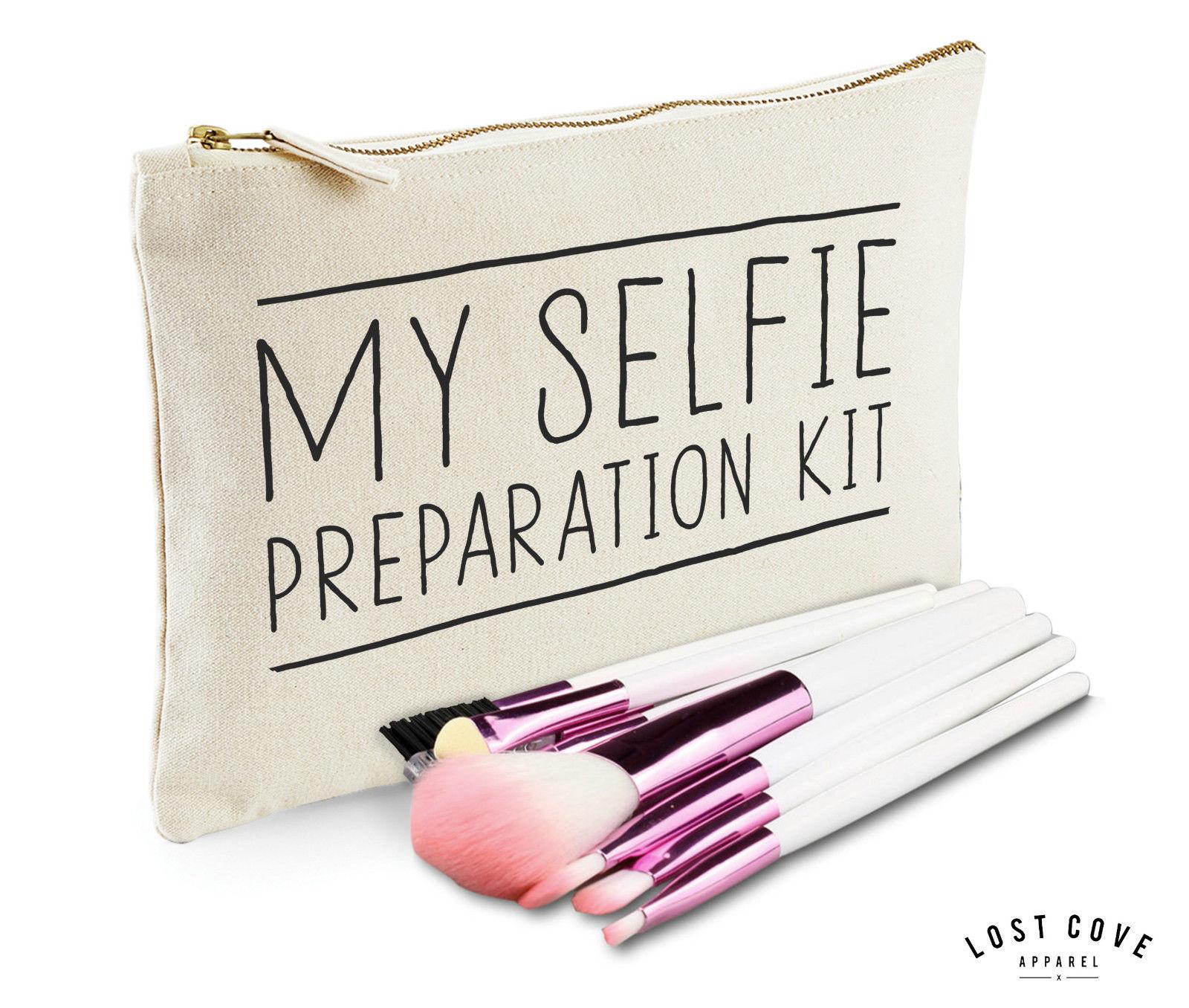 My Selfie Preparation Kit Makeup Bag Case Zip Make Up Gift