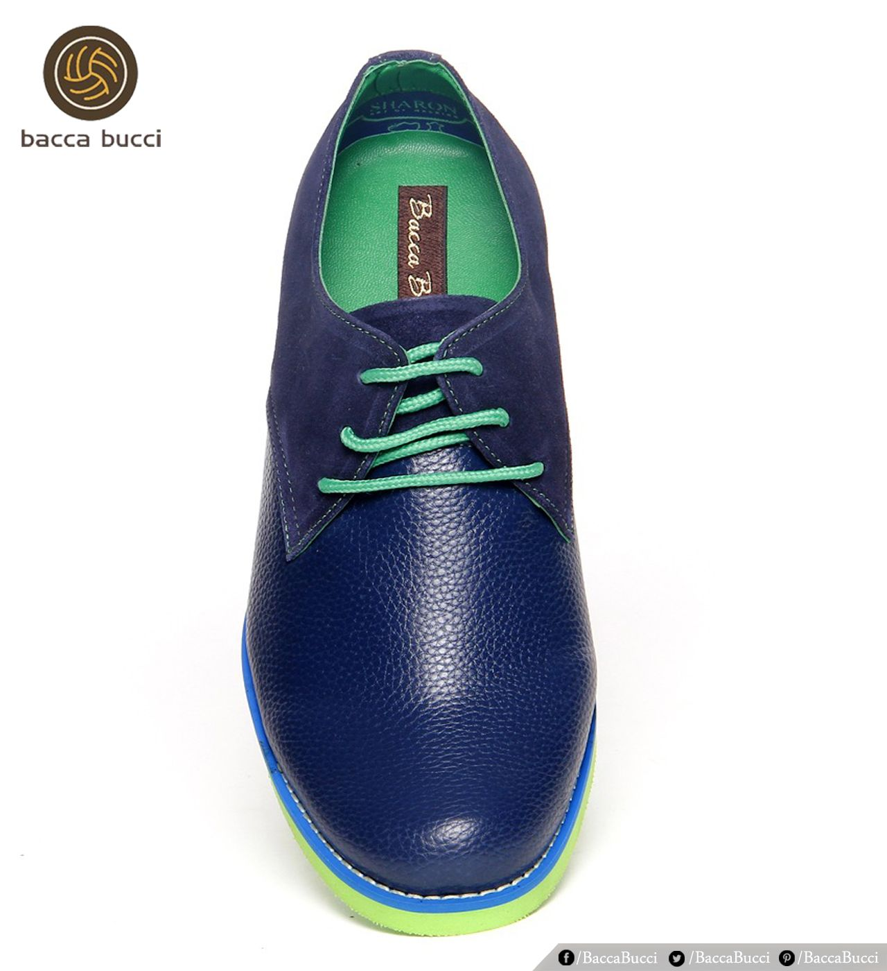 Designer Blue and Green Color Shoes