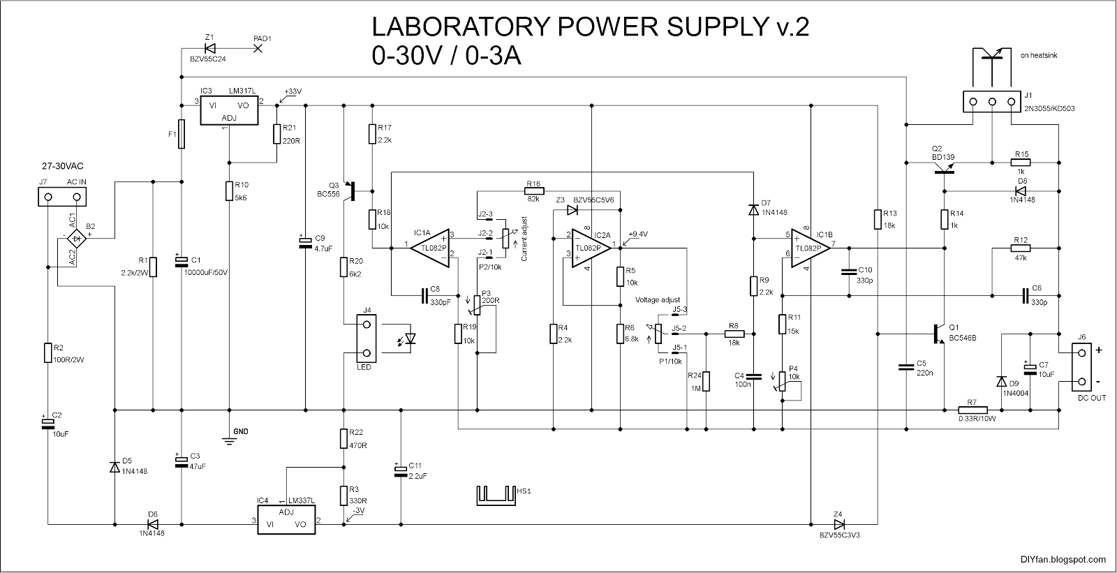 Component, Diyfan Adjustable Lab Power Supply Take Two Variable ...