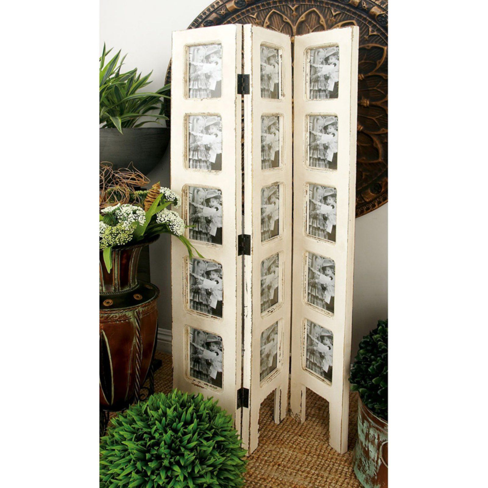 Decmode Photo Frame Room Divider Picture Frame Wall Distressed