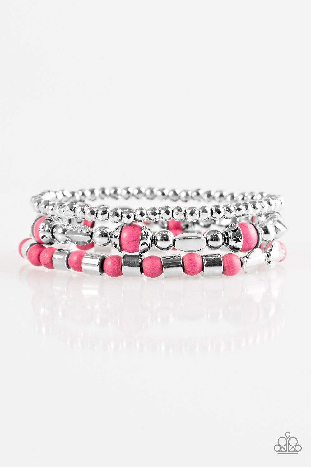 Mesa Mason Pink With Images Paparazzi Accessories Silver Bracelets Jewels