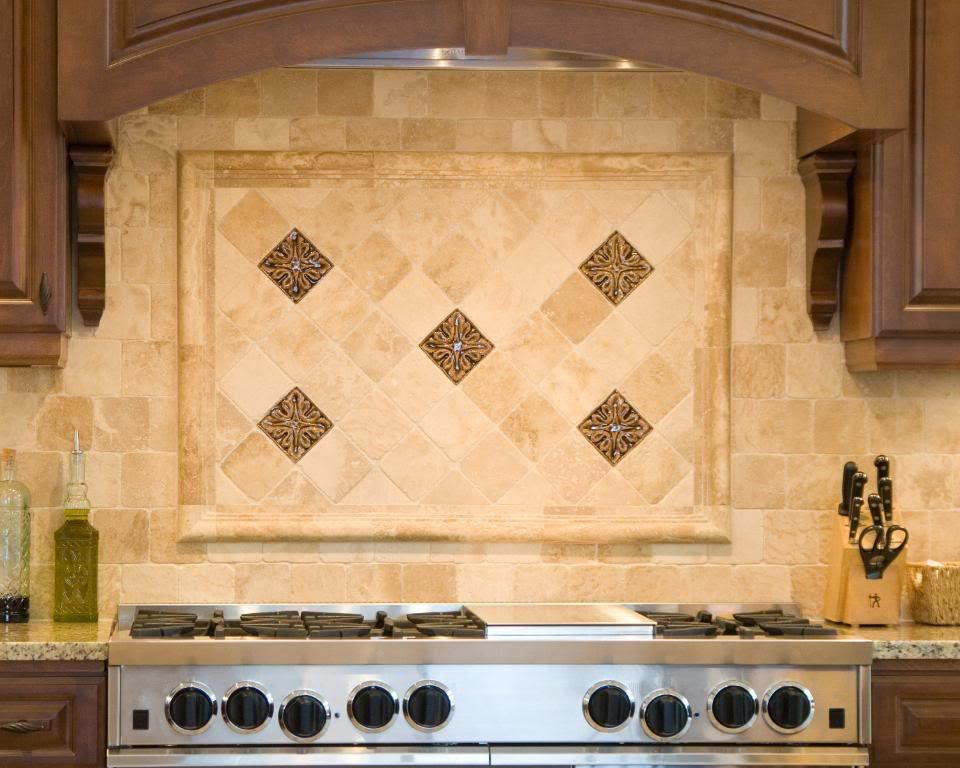 tumbled stone backsplashes for kitchens gold and