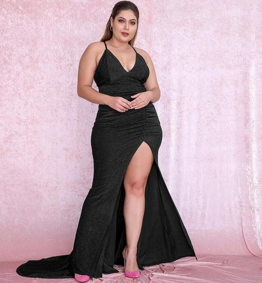 Shiny mini dress Evening short lace dress with one sleeve Prom dress in navy blue or black Big sizes.