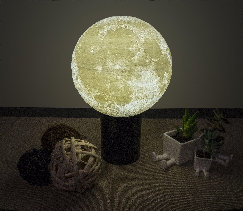 Smart Home Rgb Led Lampe 3d Druck Moon Etsy
