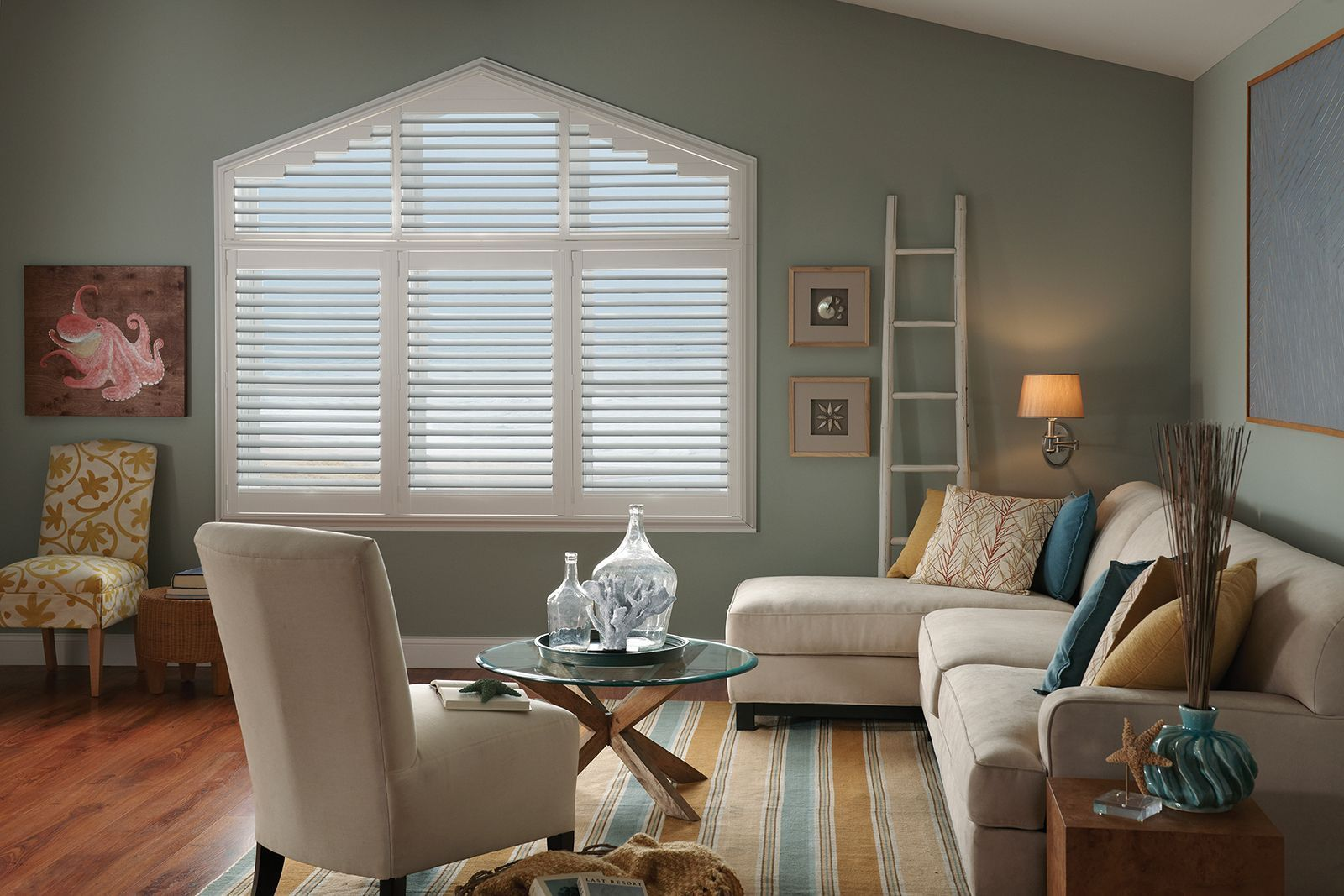 We can customize shutters for your Aframe windows. These