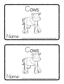 Farm emergent reader Cows and Pigs great for farm unit
