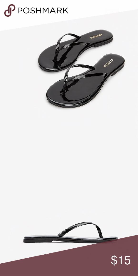 Black flip flops, Express shoes, Flip