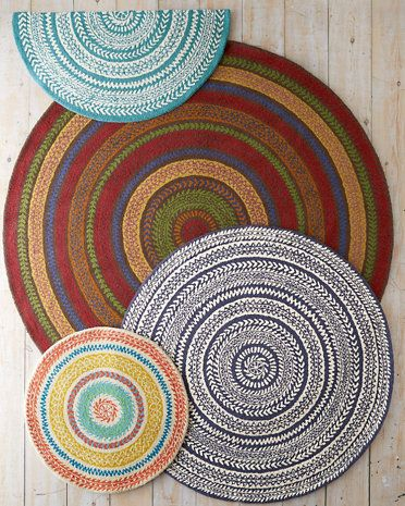 Garnet Hill Fair Isle Hooked Wool Rug These also remind me of my ...