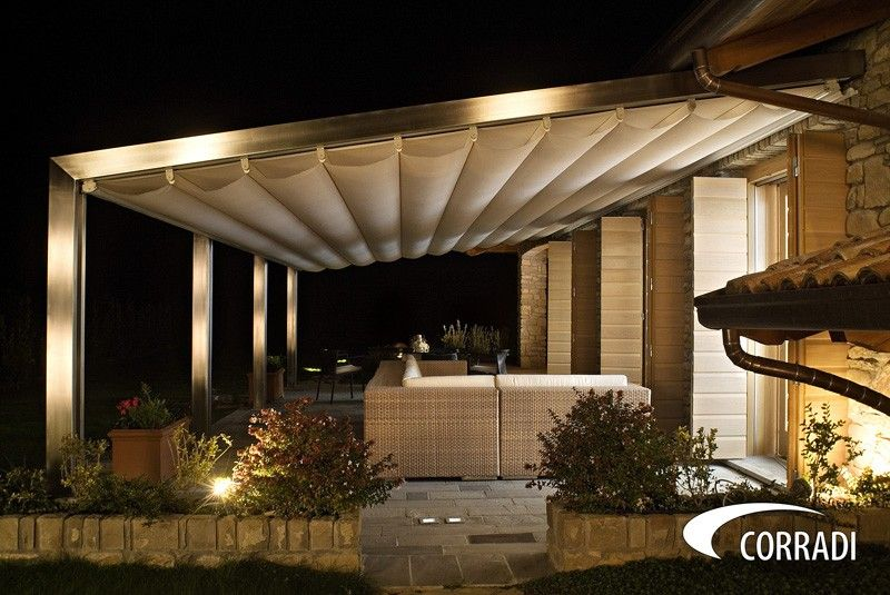 Pin By Alpha Canvas And Awning On Corradi Outdoor Living Space Pergola Modern Pergola Designs Modern Pergola