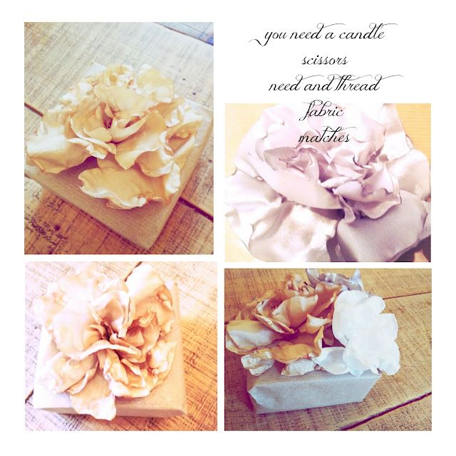 Fabric Flowers (curling edges by heating it w/ candle)
