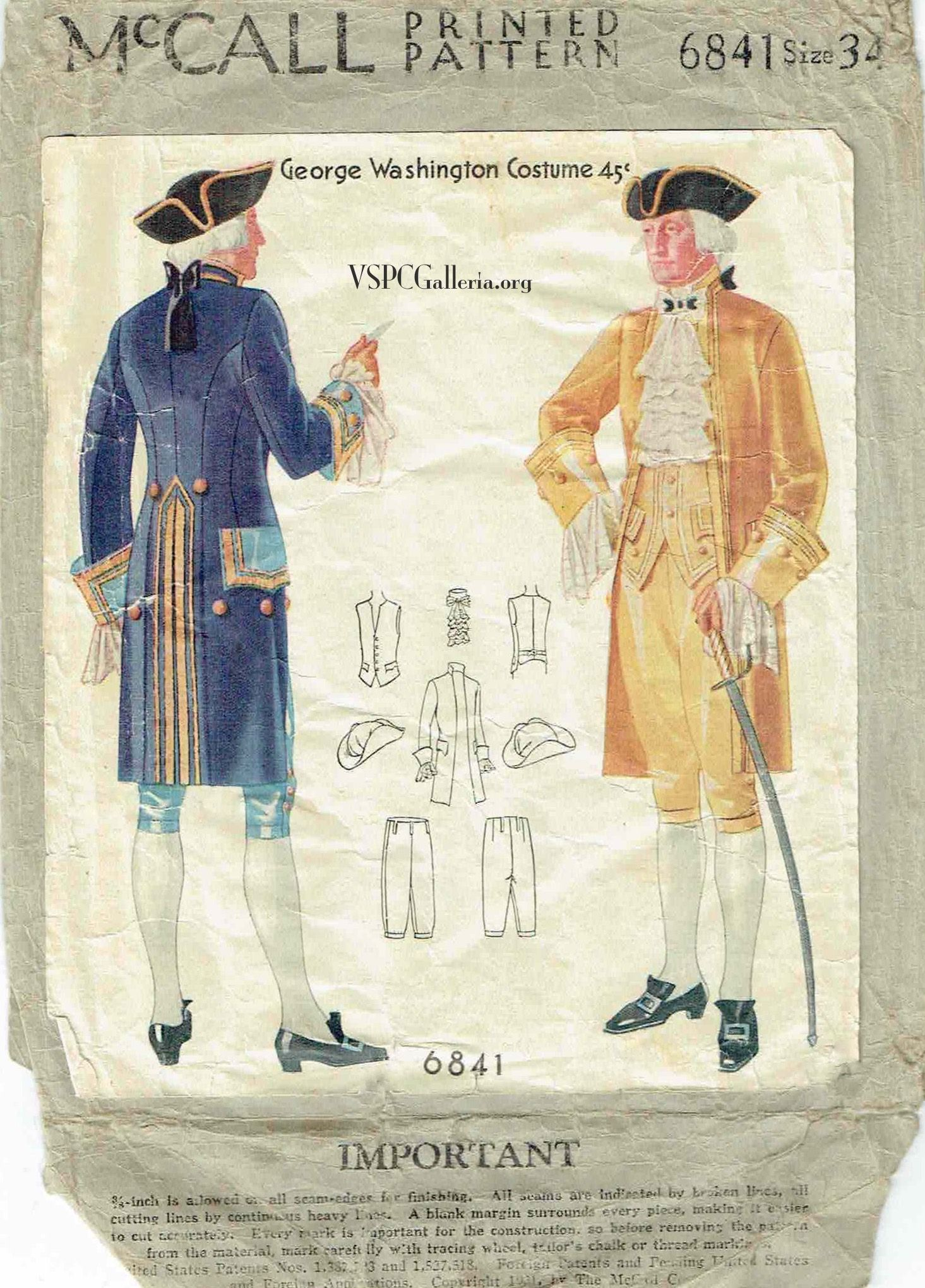 McCall 6841 | Sewing Patterns - Costumes | Pinterest