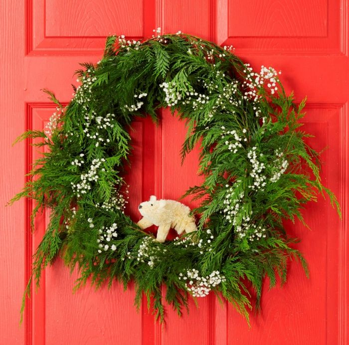 guirnaldas navideas corona de navidad natural verde