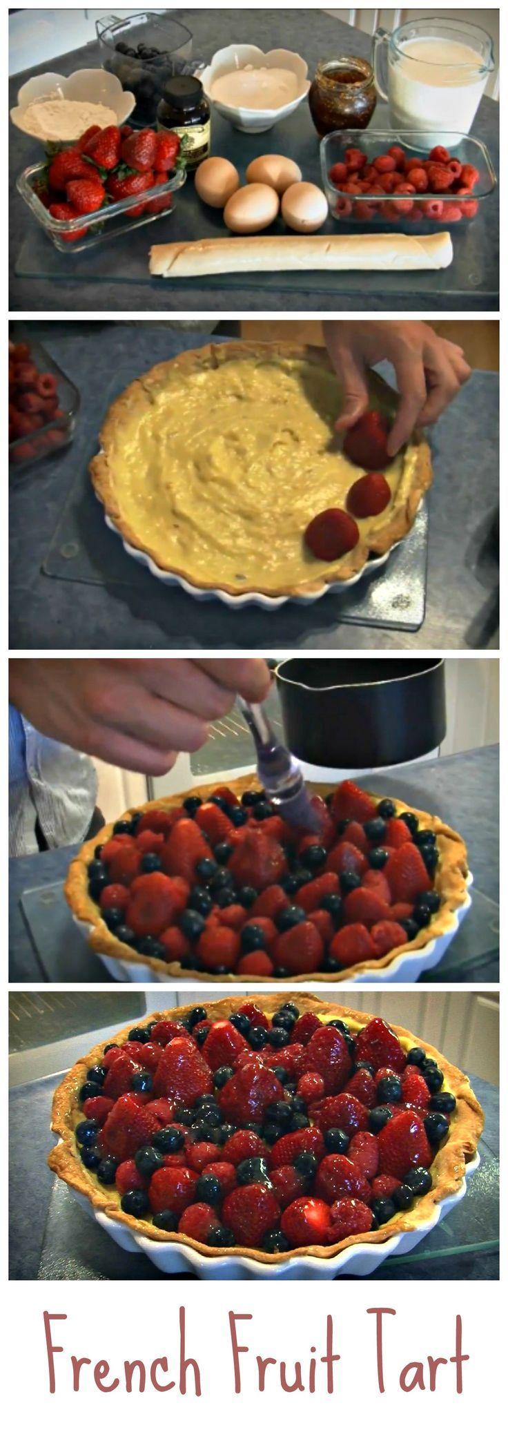 Tarta de frutas francesa