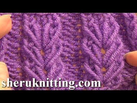 Wheat Ear Loop Stitch Pattern Tutorial 6 Free Knitting Stitch