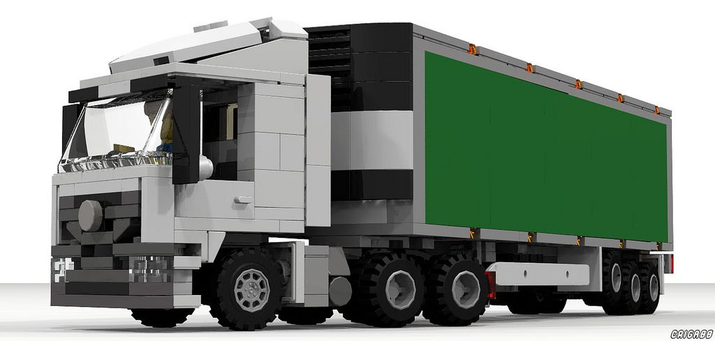 Mercedes Benz Actros With Refrigerated Trailer Moc Lego
