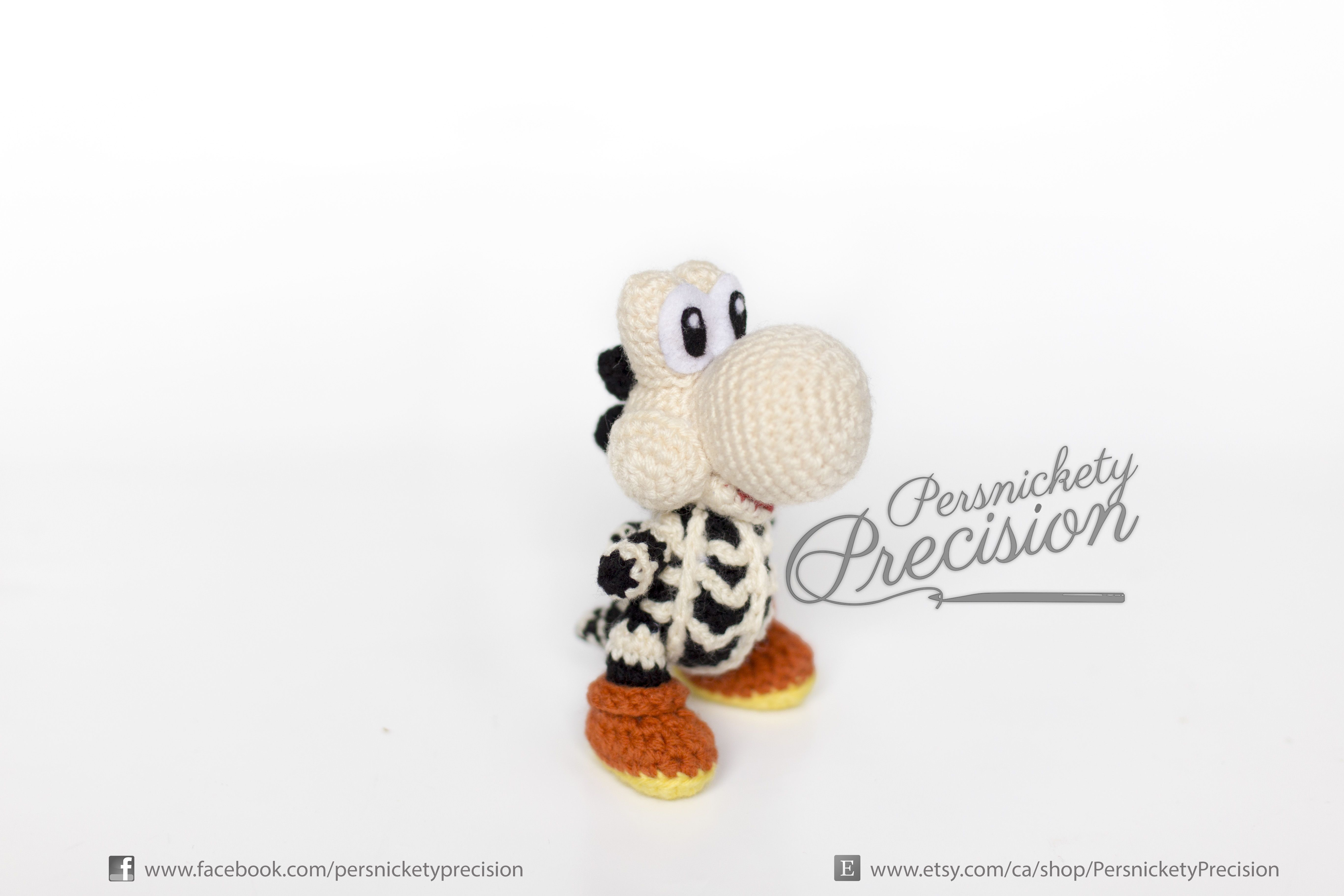 Crochet Skeleton Yoshi (Yoshi\'s Woolly World) Ready for Halloween ...