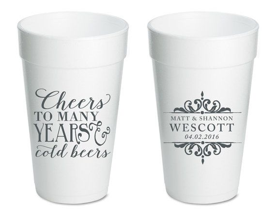 70e950a0896ab Anniversary Party Cup Cheers to Many Years Wedding Cups Party Favors ...