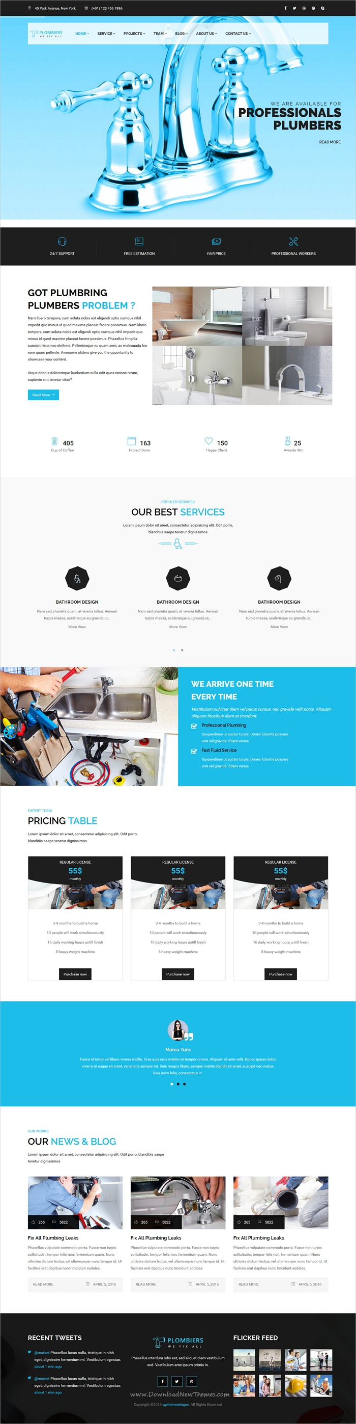 Plombiers Is A Wonderful 3in1 Responsive Html Bootstrap Template For Plumber Maintenance And Repair Services Company Websites Download Now Https Themefor