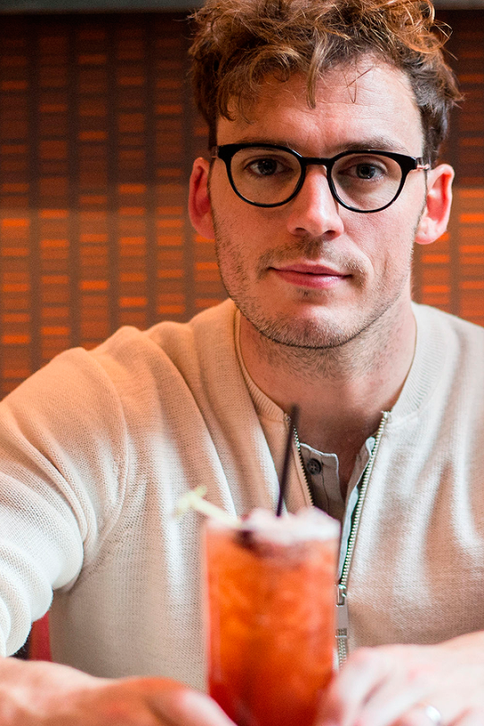 Sam Claflin. I think every hot boy gotta have a pair of glasses to compliment his smart look