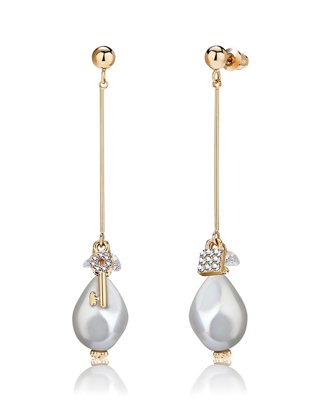 #AdoreWe #VIPme (VIPSHOP Global) CAROMAY❤️Designer Accessories Elegant Pearl Crystal Earrings - AdoreWe.com