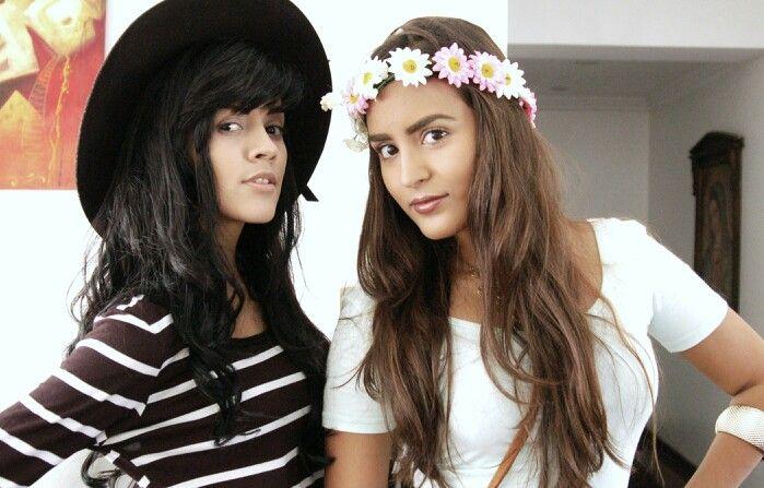 Free spirit, wild heart, gypsy soul. Bohemian dolls, hippie girl. Brimmed hat, flower crown. Long hair. Caracas, Venezuela. Febrary, 2015.