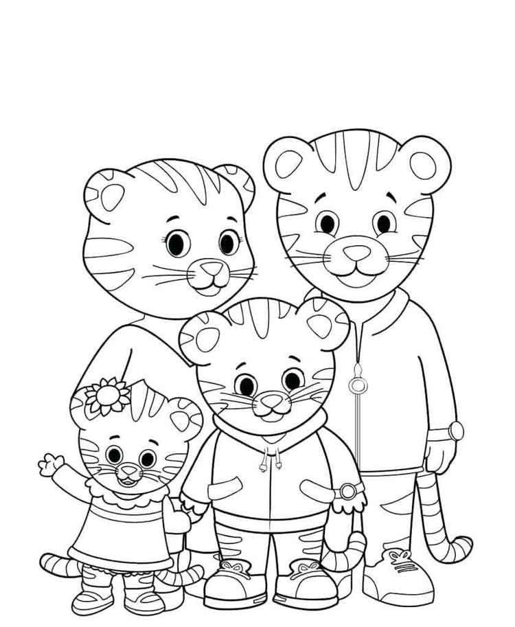 Tiger Coloring Pages For Kids 11 Best Free Printable Daniel Tiger Coloring Pages For Kids Daniel Tiger Daniel Tiger S Neighborhood Family Coloring Pages