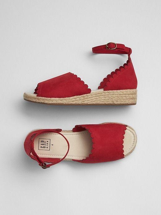 Gap Girls Scalloped Espadrille Sandals
