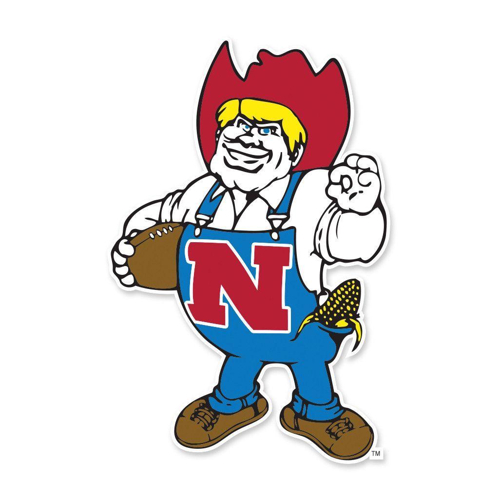 Herbie Husker Vinyl Decal Nebraska Cornhuskers Nebraska Cornhuskers Football Cornhuskers