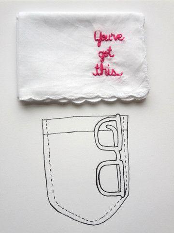 Funny Handkerchief • You've Got This • Break Up • Wedding • Graduation Gift • Hanky– by wrenbirdarts in wrenbirdarts.com $17