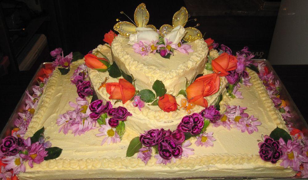 Mick & Anjee Wedding Cake