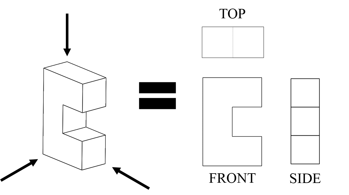 hight resolution of Seeing All Sides: Orthographic Drawing - Activity   Orthographic drawing