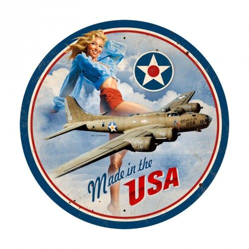 The Ringmaster Airplane Aviation Plane Fighter Jet Military Metal Sign