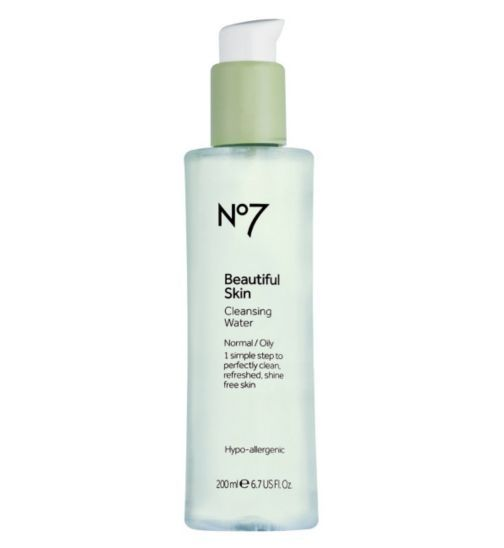 No7 Beautiful Skin Cleansing Water For Normal Oily Skin 200ml Boots Beautiful Skin Water Cleanse Oily Skin
