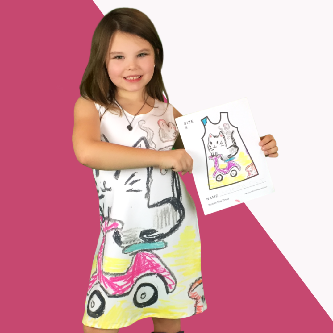 Cute gift idea for a child they create their own dress design