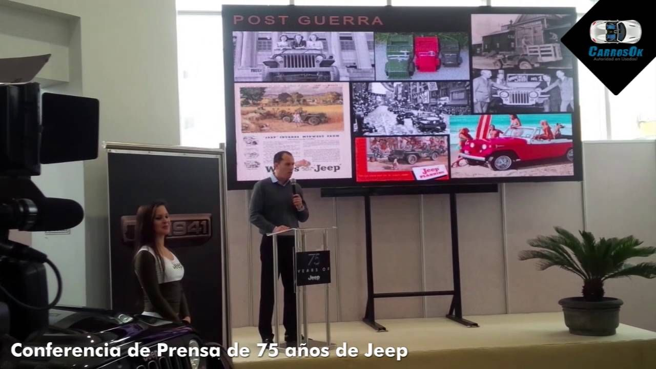 Conferencia del 75 Aniversario de Jeep en Carros Ok.  https://youtu.be/2SDd9pXka1g