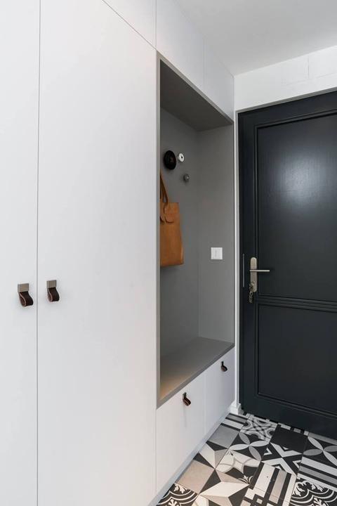 Meuble d\u0027entré - Moderne - Blanc et gris - Inspiration - Meuble d