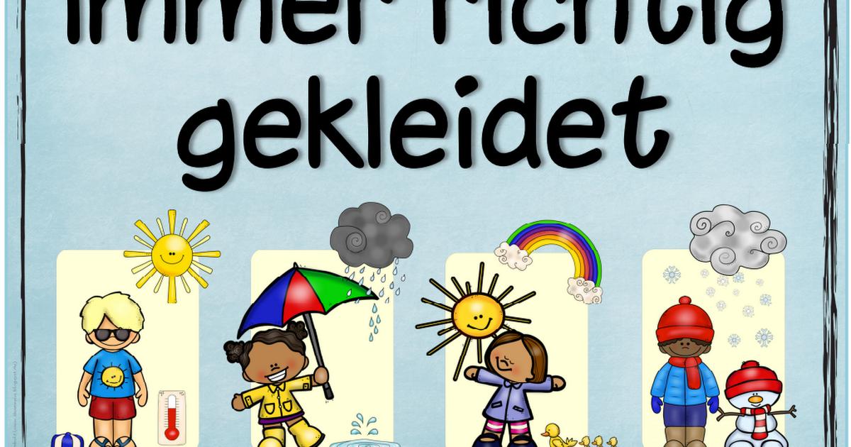 Themenplakat Richtigekleidung Pdf Piktogramme Pinterest