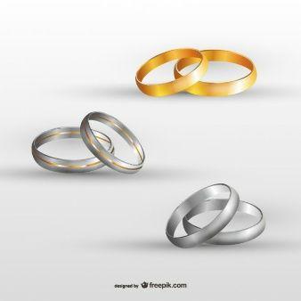 Os anéis de casamento definido