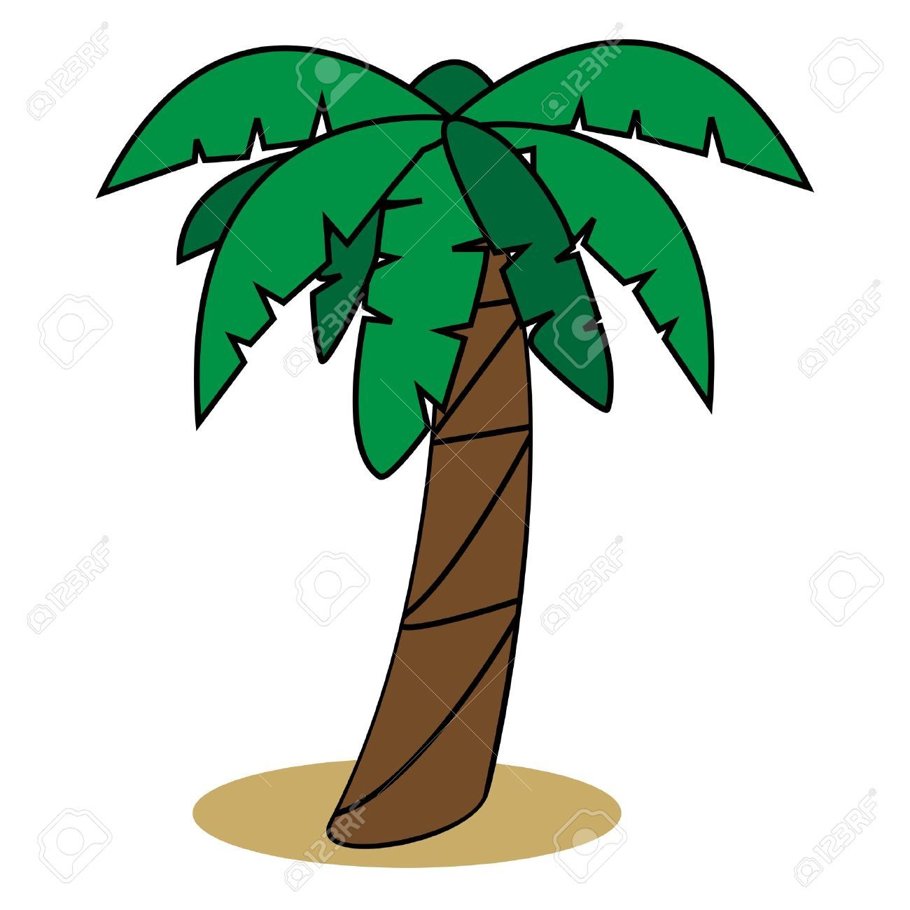 Cartoon Palm Tree Stock Photos Images, Royalty Free Cartoon Palm ...