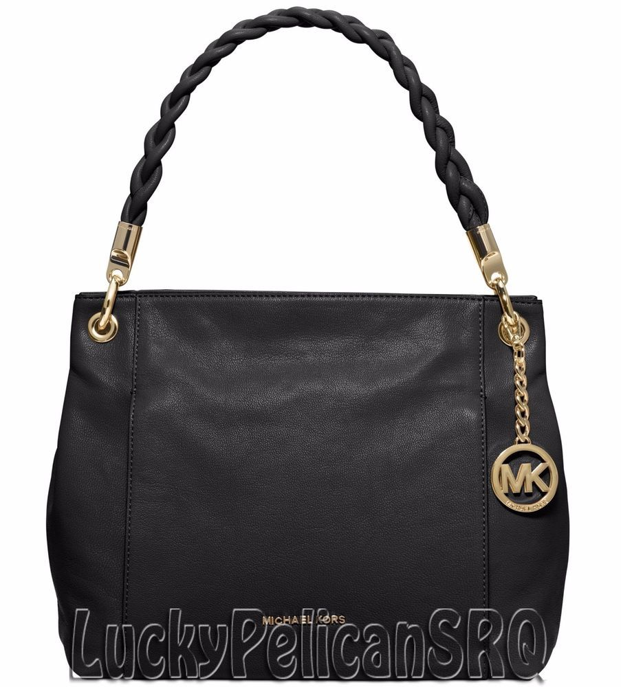 michael kors naomi large shoulder bag handbag bag black nwt rh pinterest pt