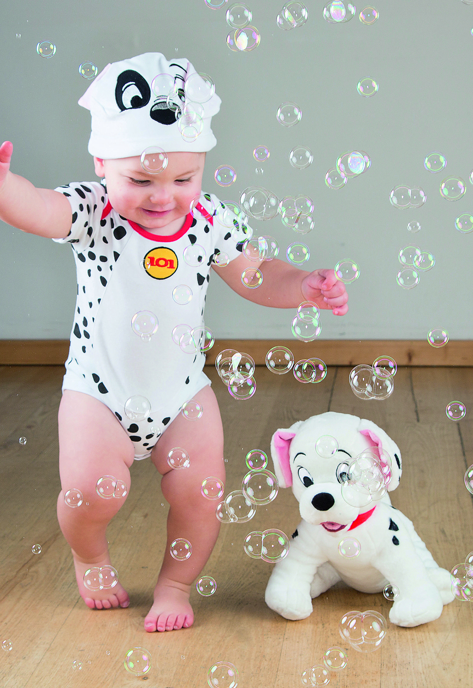 ba4cd05b697 101 Dalmatians Patch Jersey Bodysuit and Hat ~ This adorable 101 Dalmatians  bodysuit is made of soft cotton jersey and has short sleeves and popper ...