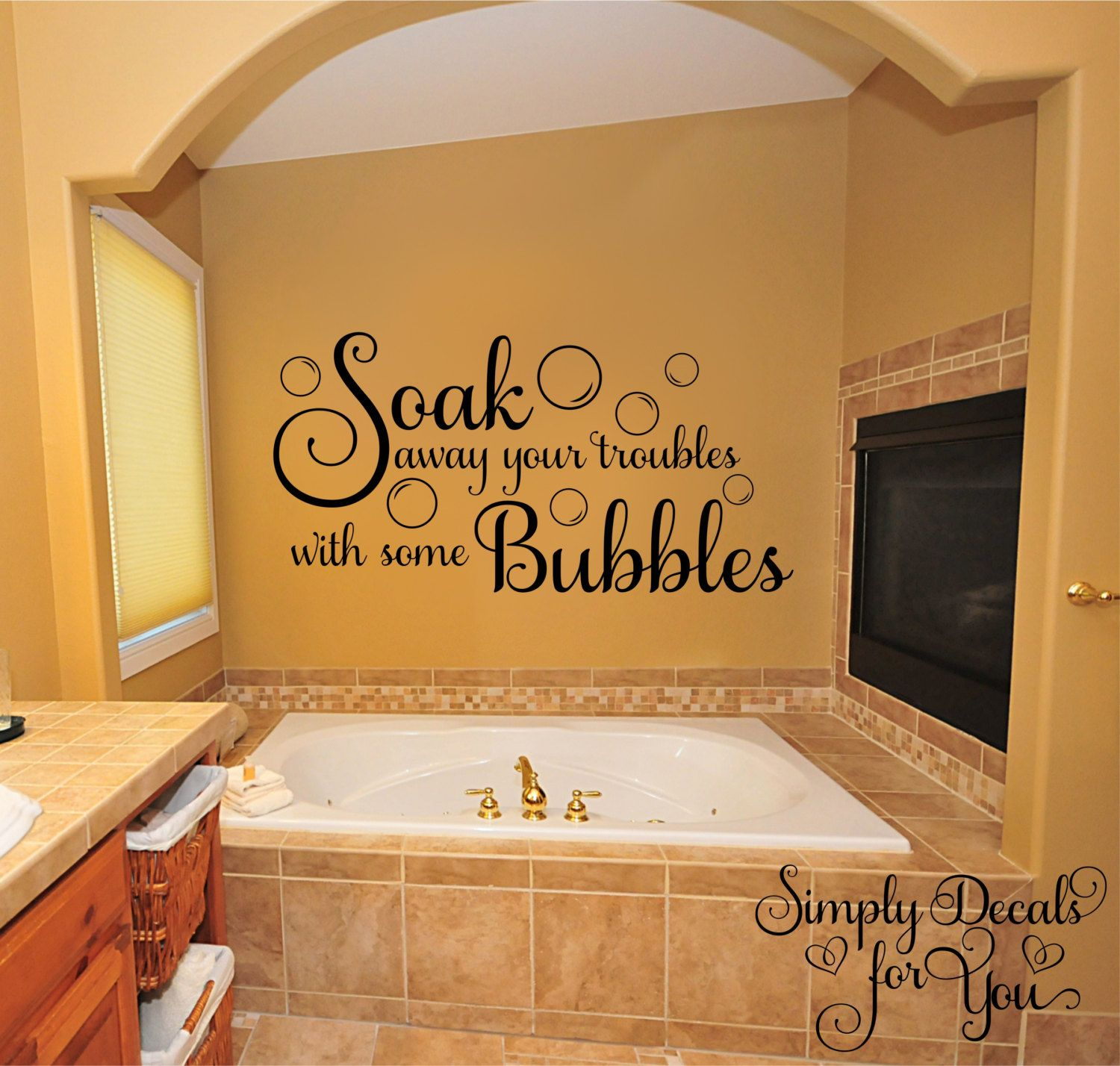 Bubble Bath Wall Decal Bathroom Decal Bathroom Sticker Wall Decal Wall Sticker Home Decor Vinyl Wall Bathroom Wall Decals Bathroom Decals Bathroom Vinyl