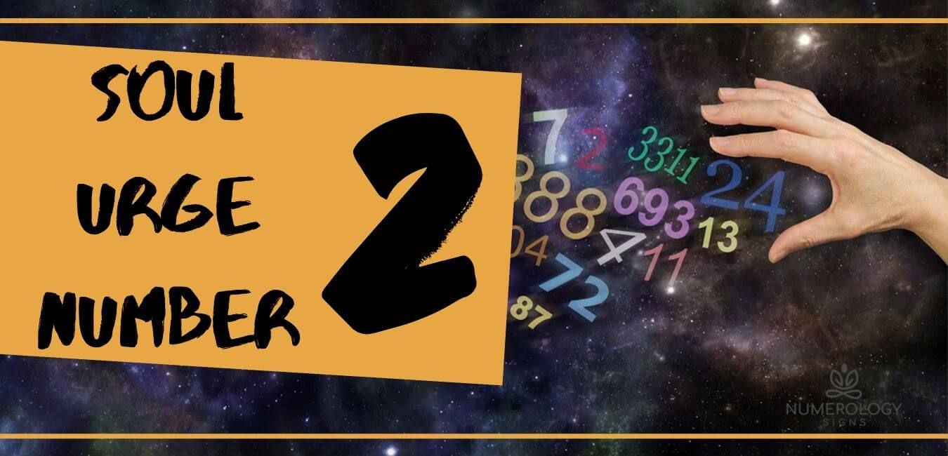 Soul Urge Number 2 Meaning Numerology Chart Numerology