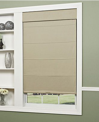 Macy S Cottom Twill Thermal Roman Roller Shade 34 35 X 72 Direct From Vendor Ships Within 36 Business Days