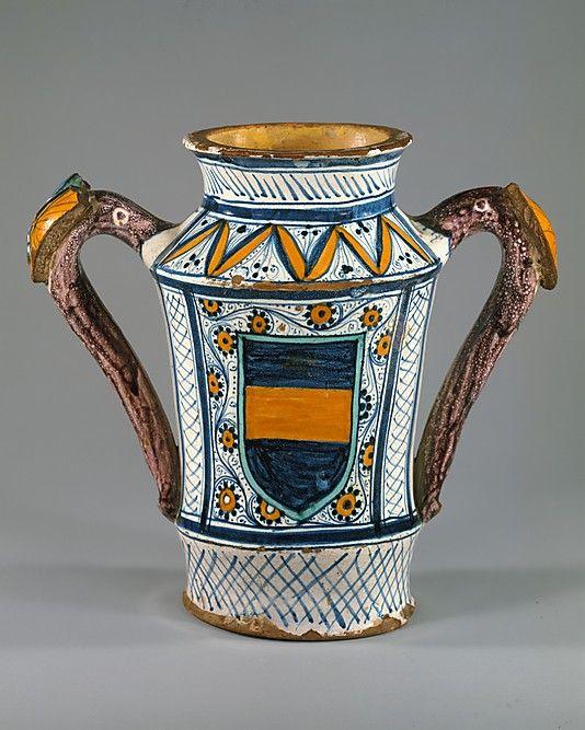 Apothecary Jar Albarello The Metropolitan Museum Of Art Apothecary Jars Majolica Pottery Italian Majolica
